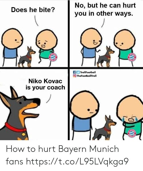 No But: No, but he can hurt  you in other ways  Does he bite?  f TrollFootball  TheFootballTroll  Niko Kovac  is your coach How to hurt Bayern Munich fans https://t.co/L95LVqkga9