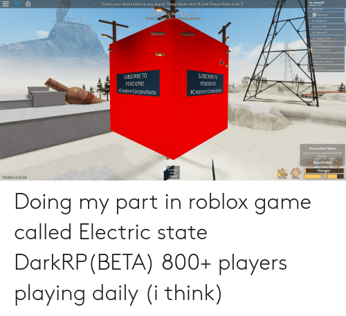 Roblox Electric State Crafting 25 Best Memes About Roblox Games Roblox Games Memes
