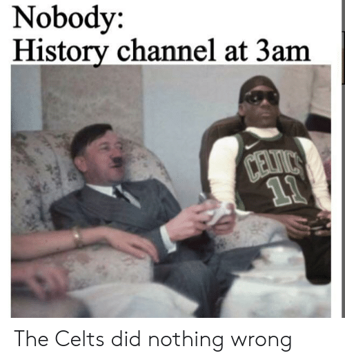 history channel: Nobody:  History channel at 3am  Davirs  11 The Celts did nothing wrong