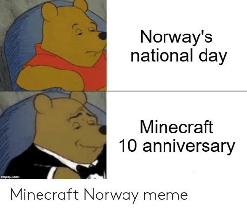 6c0fe9d4 Meme, Minecraft, and Norway: Norway's national day Minecraft 10 anniversary  Minecraft Norway meme