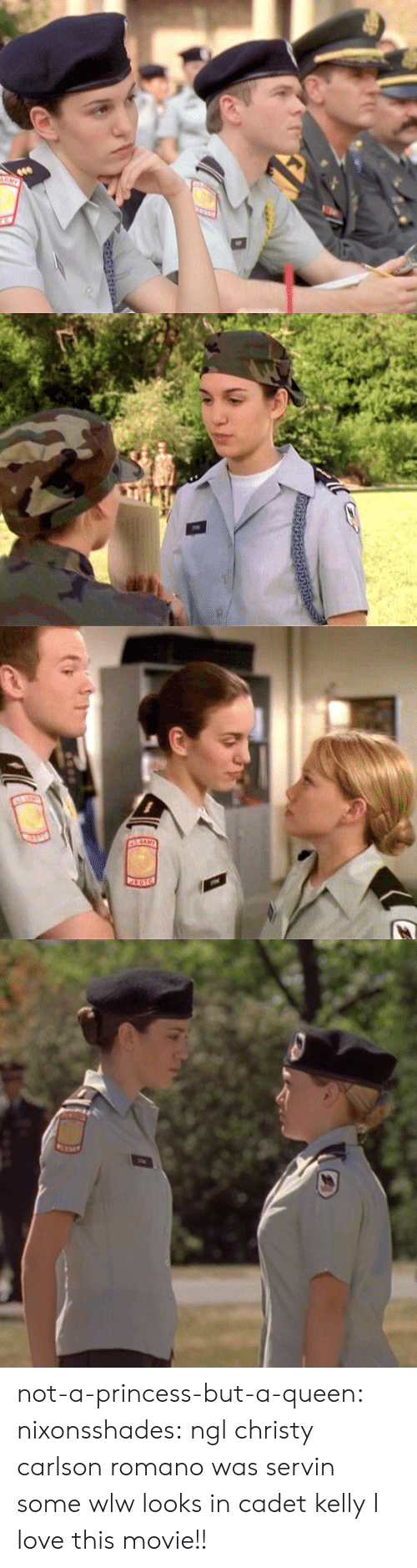 Love, Target, and Tumblr: not-a-princess-but-a-queen:  nixonsshades:  ngl christy carlson romano was servin some wlw looks in cadet kelly  I love this movie!!