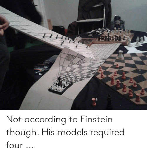 Four Dimensional Chess: Not according to Einstein though. His models required four ...