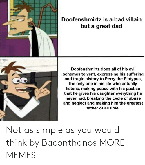 simple: Not as simple as you would think by Baconthanos MORE MEMES