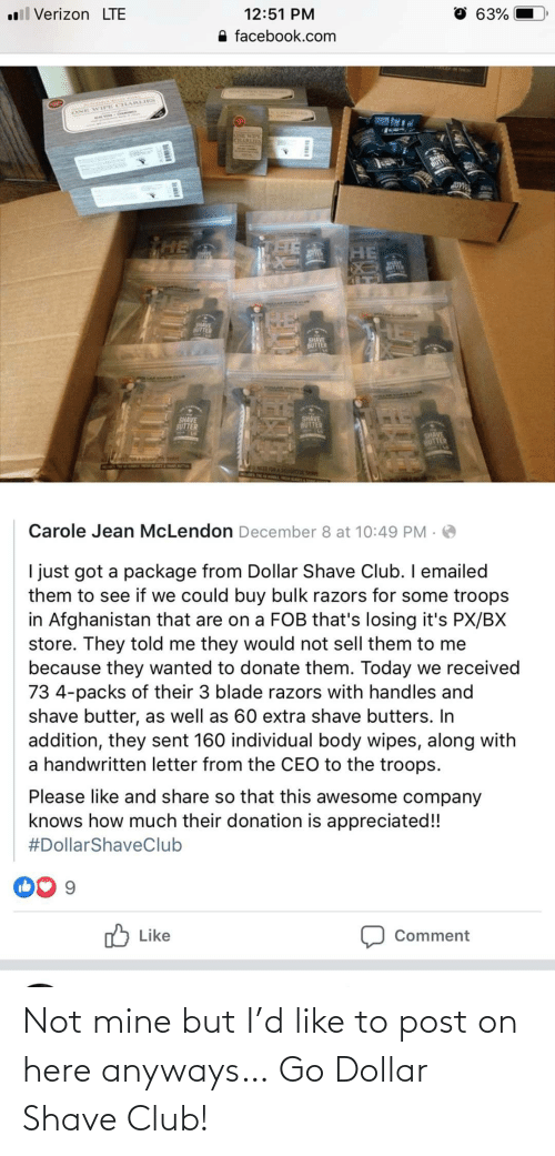 Club, Mine, and Dollar Shave Club: Not mine but I'd like to post on here anyways… Go Dollar Shave Club!