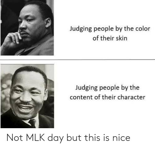 Nice: Not MLK day but this is nice