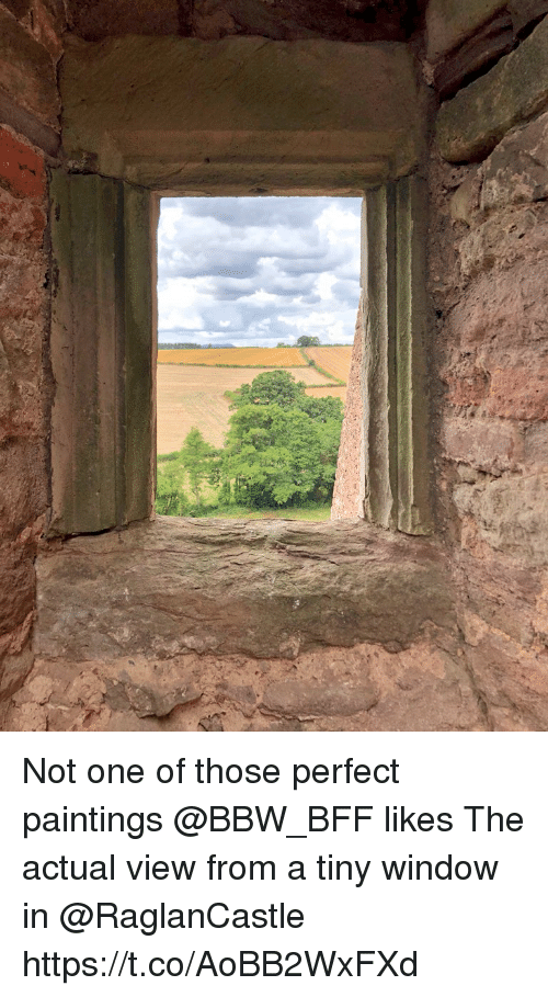 Bbw, Memes, and Paintings: Not one of those perfect paintings @BBW_BFF likes The actual view from a tiny window in @RaglanCastle https://t.co/AoBB2WxFXd