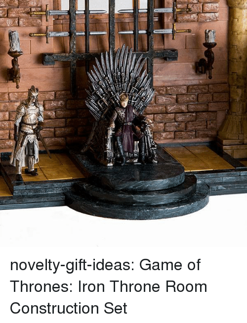 Game of Thrones, Tumblr, and Blog: novelty-gift-ideas:  Game of Thrones: Iron Throne Room Construction Set