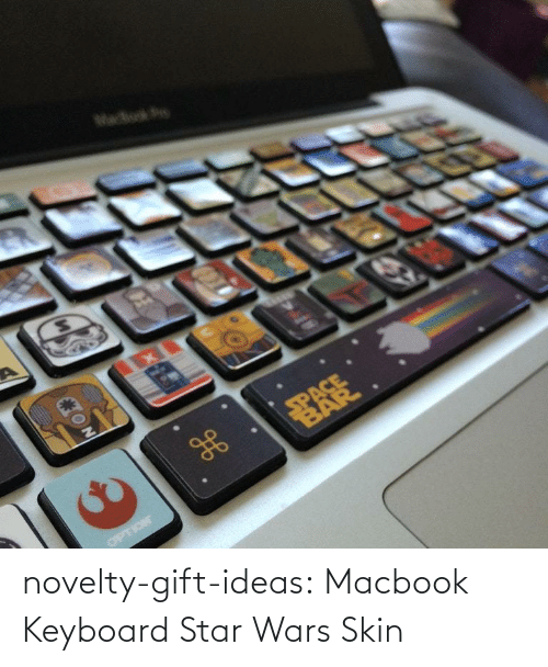 Star Wars: novelty-gift-ideas:  Macbook Keyboard Star Wars Skin