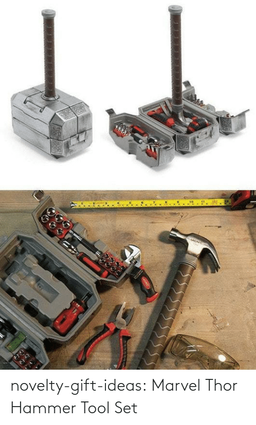 Marvel: novelty-gift-ideas:  Marvel Thor Hammer Tool Set