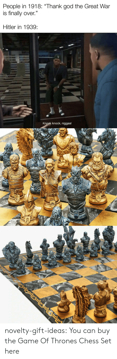 Game of Thrones, The Game, and Tumblr: novelty-gift-ideas:  You can buy the   Game Of Thrones Chess Set here