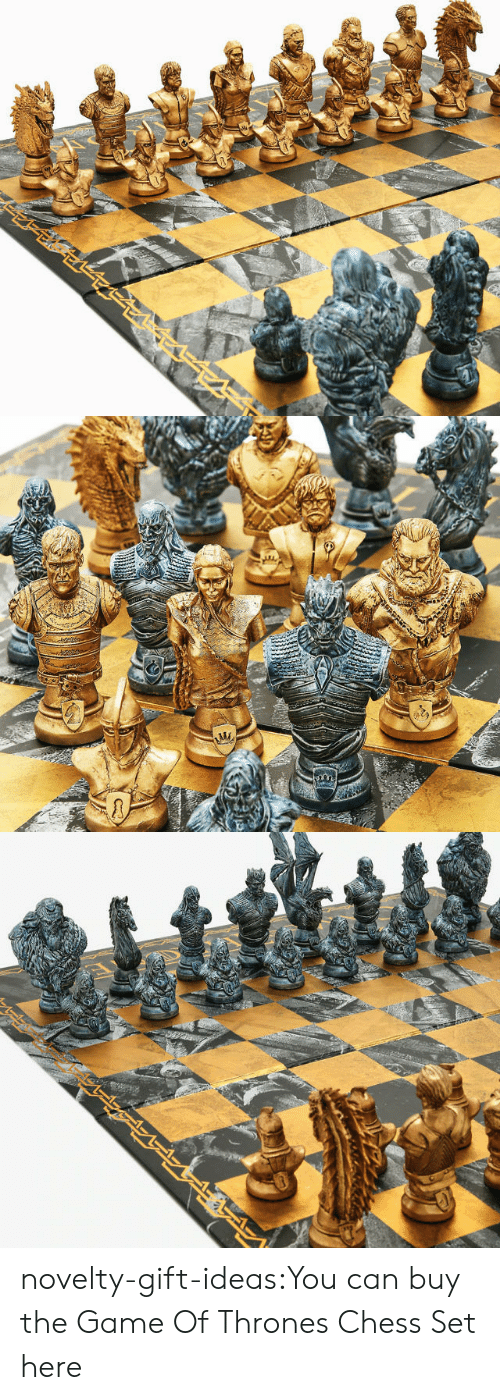 Game of Thrones, The Game, and Tumblr: novelty-gift-ideas:You can buy the   Game Of Thrones Chess Set here