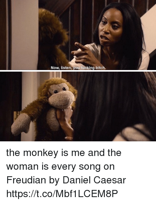 Bitch, Fucking, and Funny: Now, listen, you fucking bitch the monkey is me and the woman is every song on Freudian by Daniel Caesar https://t.co/Mbf1LCEM8P