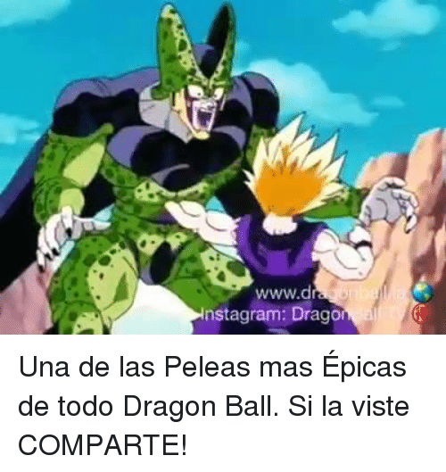 Memes, 🤖, and Dragon Ball: nstagram: Drago Una de las Peleas mas Épicas de todo Dragon Ball. Si la viste COMPARTE!