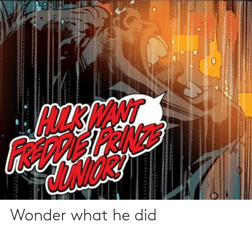 Wonder: NT Wonder what he did
