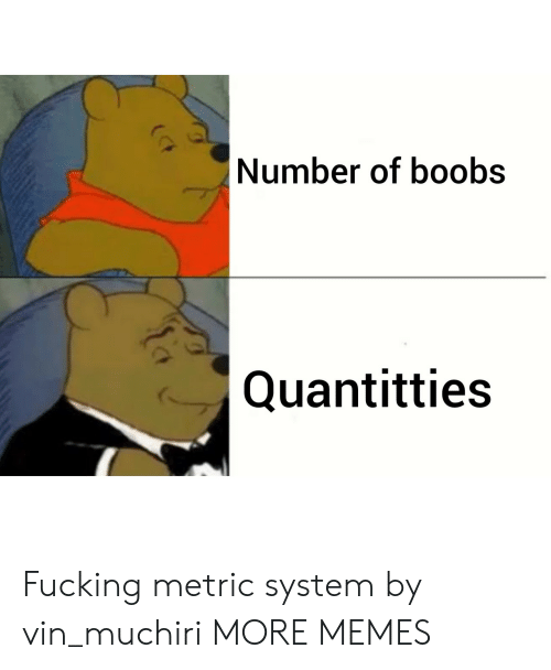 Dank, Fucking, and Memes: Number of boobs  Quantitties Fucking metric system by vin_muchiri MORE MEMES