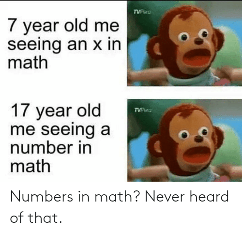 Math: Numbers in math? Never heard of that.
