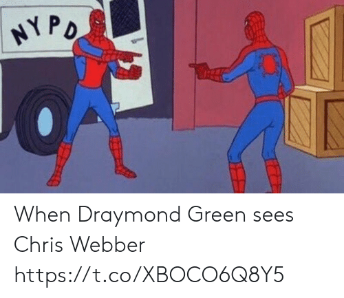 Draymond Green: NYPO When Draymond Green sees Chris Webber https://t.co/XBOCO6Q8Y5