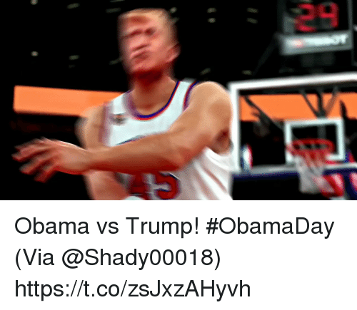 Memes, Obama, and Trump: Obama vs Trump! #ObamaDay  (Via @Shady00018)   https://t.co/zsJxzAHyvh