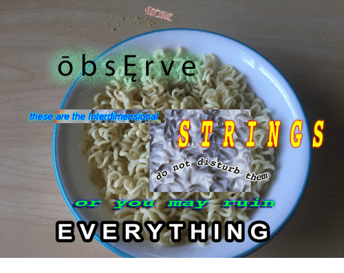 Dis, Ads, and Obs: obs erve  these are the interdimensional  ads turb theo  ot dis  do not  LE  EVERYTHING