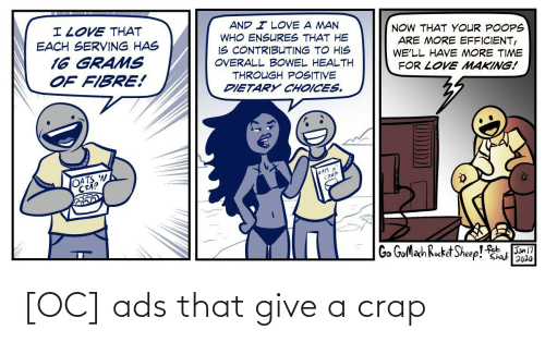 Give: [OC] ads that give a crap
