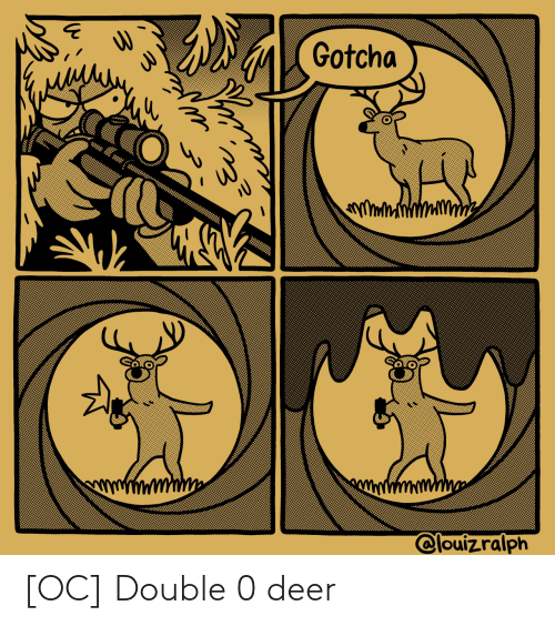 double: [OC] Double 0 deer