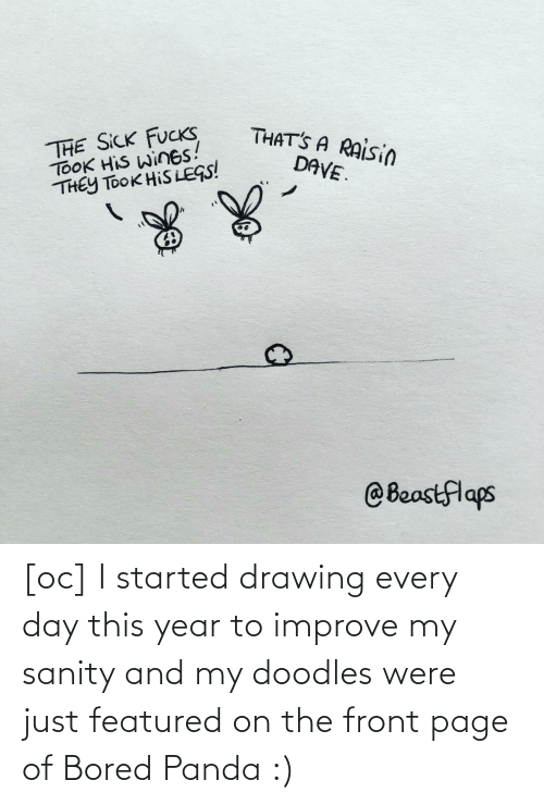 every day: [oc] I started drawing every day this year to improve my sanity and my doodles were just featured on the front page of Bored Panda :)
