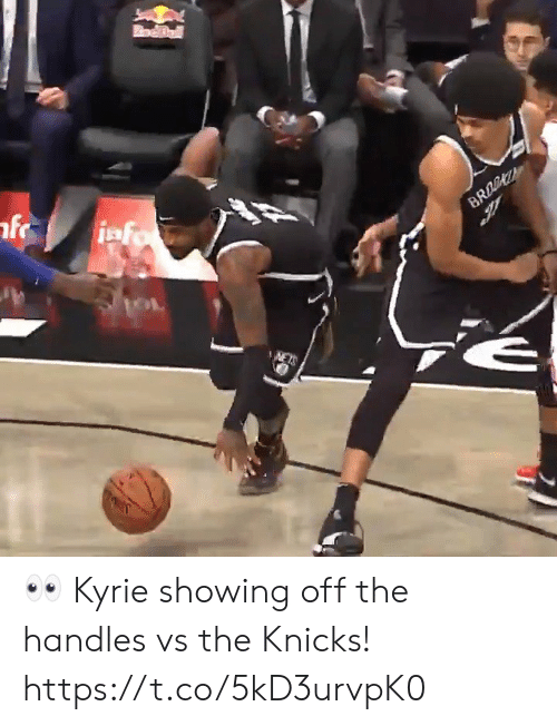 kyrie: odBall  iafo  BRO  NETS 👀 Kyrie showing off the handles vs the Knicks!  https://t.co/5kD3urvpK0