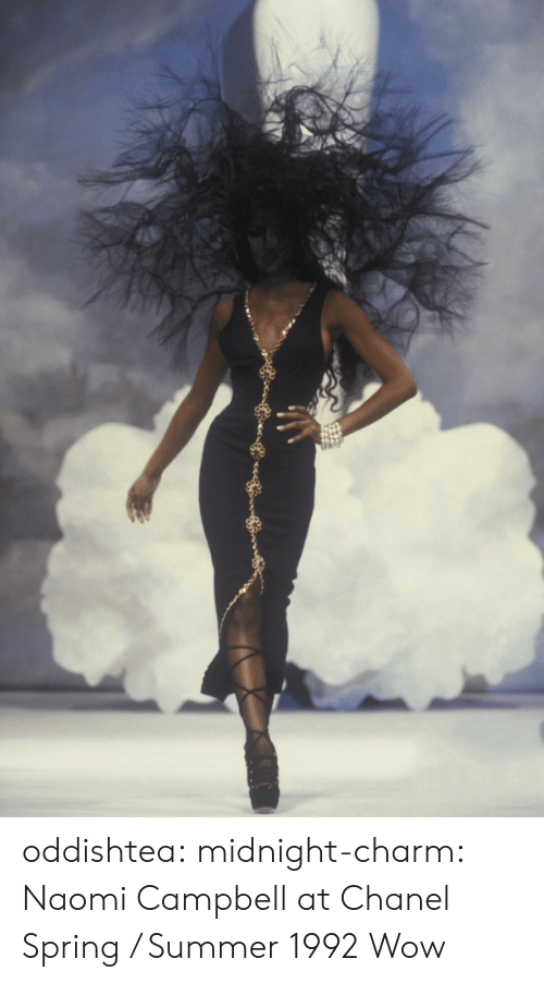 Tumblr, Wow, and Naomi Campbell: oddishtea:  midnight-charm: Naomi Campbell at Chanel Spring / Summer 1992  Wow