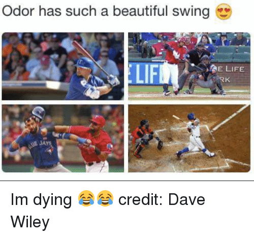 sae: Odor has such a beautiful swing  LIFM  SAE LIFE  RK Im dying 😂😂  credit: Dave Wiley