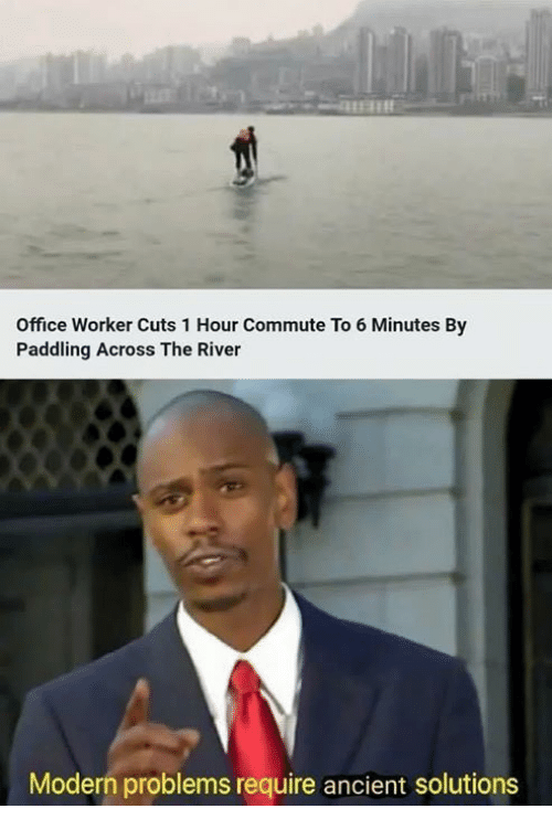 Paddling: Office Worker Cuts 1 Hour Commute To 6 Minutes By  Paddling Across The River  Modern problems require ancient solutions