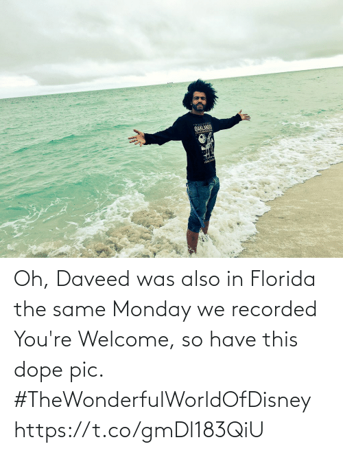The Same: Oh, Daveed was also in Florida the same Monday we recorded You're Welcome, so have this dope pic. #TheWonderfulWorldOfDisney https://t.co/gmDl183QiU