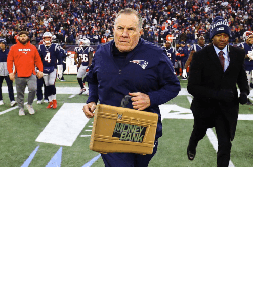 Threat: OH MY! Bill Belichick is cashing in his MITB Briefcase! The Super Bowl is now a triple threat! https://t.co/4UZRCwWTjL