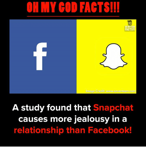 Snapchated: OH MY COD FACTS!!!  8  FACTS!!  Image Credit www.seventeen.comm  A study found that Snapchat  causes more jealousy in a  relationship than Facebook!