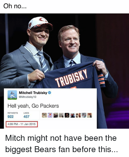 oh no trubisky mitchell trubisky mtrubisky 10 hell yeah go 20383166 🦅 25 best memes about bears bears memes