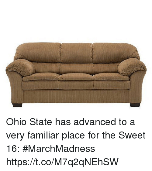 Sports, Ohio, and Ohio State: Ohio State has advanced to a very familiar place for the Sweet 16: #MarchMadness https://t.co/M7q2qNEhSW