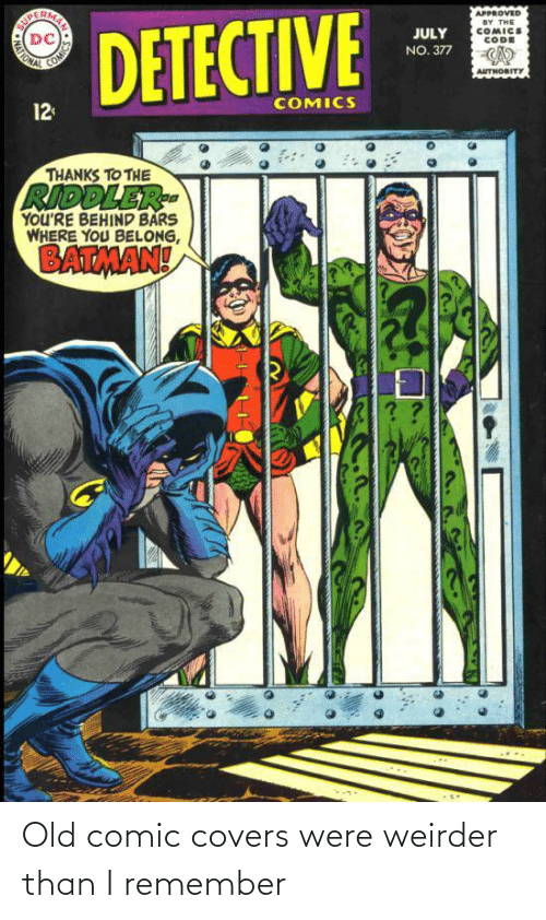 i remember: Old comic covers were weirder than I remember