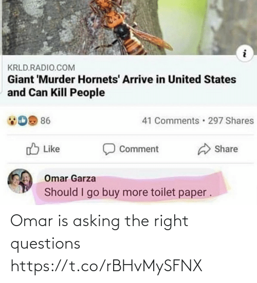 Asking: Omar is asking the right questions https://t.co/rBHvMySFNX