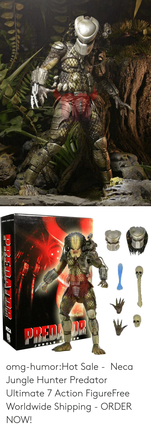 Amazon, Omg, and Tumblr: omg-humor:Hot Sale -  Neca Jungle Hunter Predator Ultimate 7 Action FigureFree Worldwide Shipping - ORDER NOW!