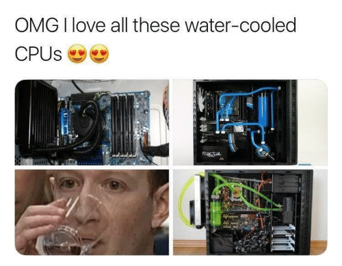 Love, Omg, and Water: OMG I love all these water-cooled  CPUS  fractal