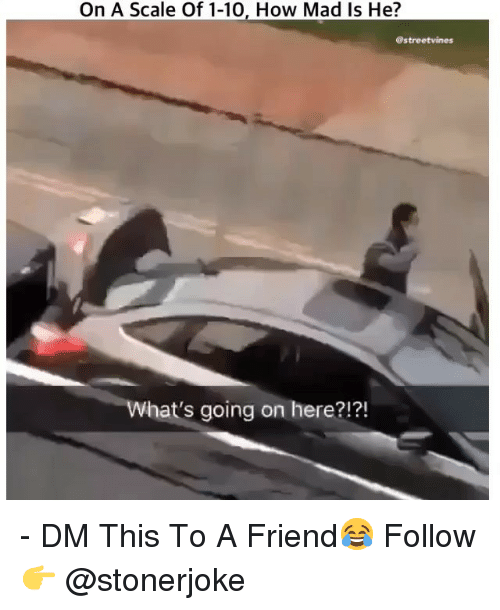 Memes, Mad, and 🤖: On A Scale Of 1-10, How Mad Is He?  @streetvines  What's going on here?!?! - DM This To A Friend😂 Follow 👉 @stonerjoke