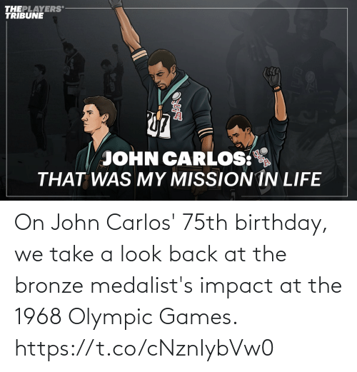 john: On John Carlos' 75th birthday, we take a look back at the bronze medalist's impact at the 1968 Olympic Games. https://t.co/cNznIybVw0