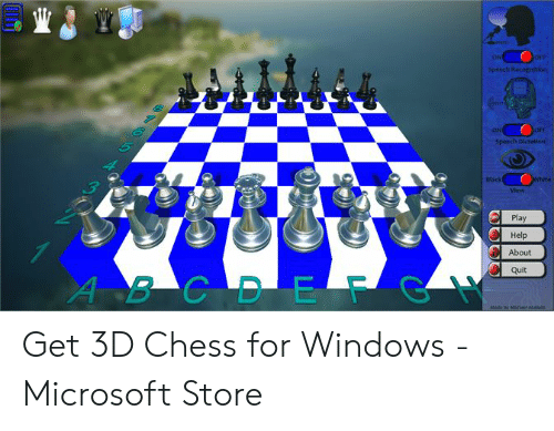 4 Dimensional Chess: ON  Play  Help  About  Quit Get 3D Chess for Windows - Microsoft Store