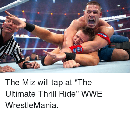 "World Wrestling Entertainment, Wrestlemania, and The Miz: ON The Miz will tap at ""The Ultimate Thrill Ride"" WWE WrestleMania."