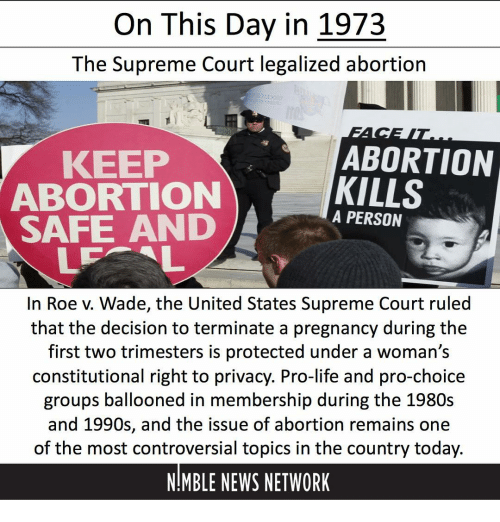 an analysis 1973 legalization of abortions by the us supreme court