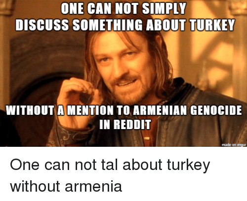 ONE CAN NOT SIMPLY Discuss SOMETHING ABOUT TURKEY WITHOUT a