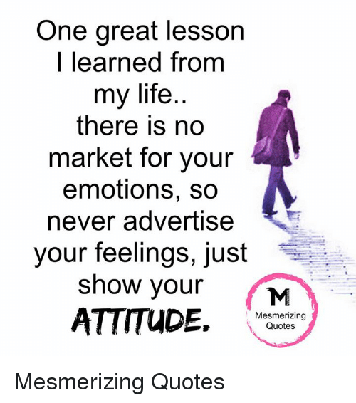 attitude and emotions a powerful lesson
