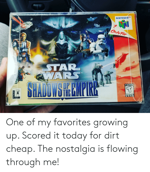 Growing up: One of my favorites growing up. Scored it today for dirt cheap. The nostalgia is flowing through me!