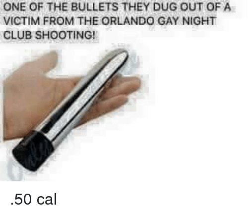 Club, Orlando, and Gay: ONE OF THE BULLETS THEY DUG OUT OF A  VICTIM FROM THE ORLANDO GAY NIGHT  CLUB SHOOTING! <p>.50 cal</p>