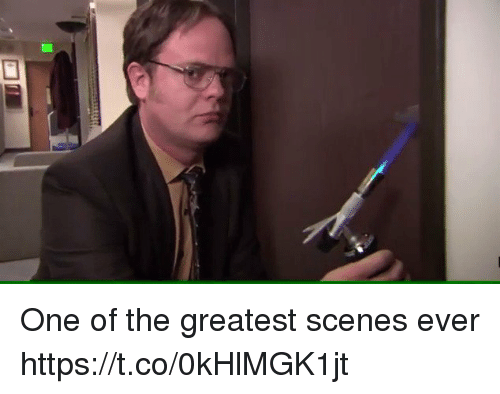 One, Greatest, and Ever: One of the greatest scenes ever https://t.co/0kHlMGK1jt