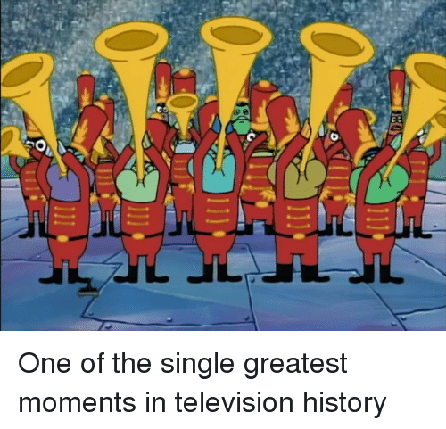 History, Television, and Single: One of the single greatest moments in television history